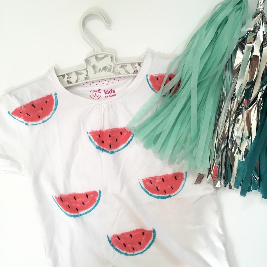 DIY t-shirt pastèque