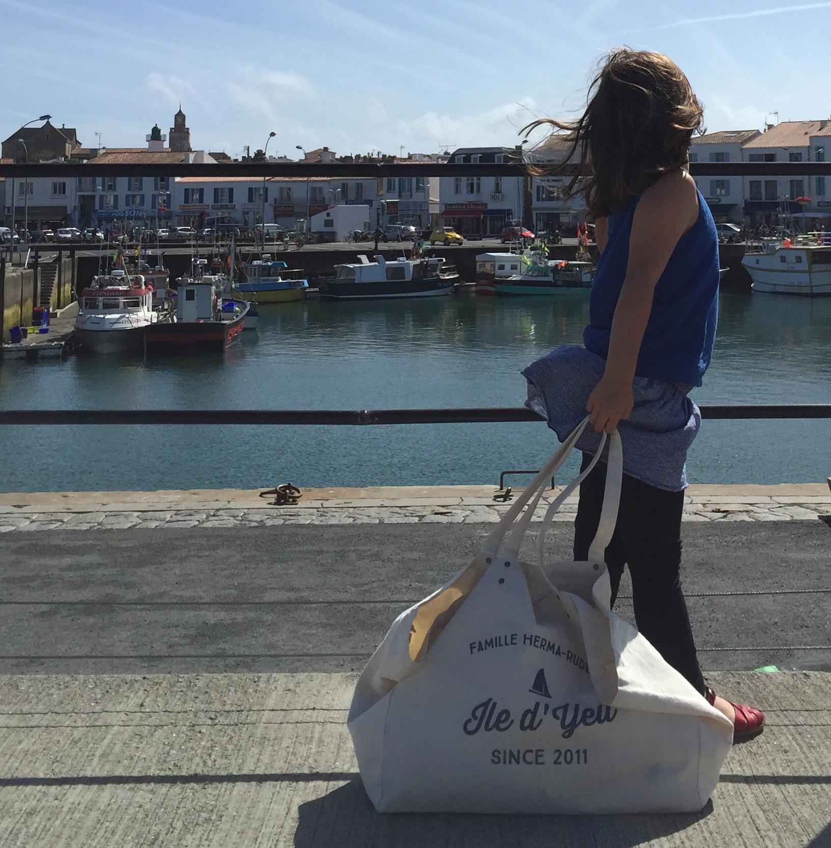 notre sac de plage personnalis par factory chic by paulette. Black Bedroom Furniture Sets. Home Design Ideas